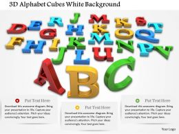 1014 3d Alphabet Cubes White Background Image Graphics For PowerPoint
