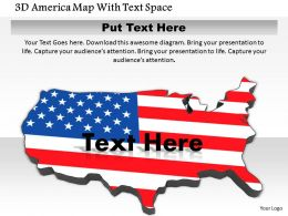 1014 3d America Map With Text Space Image Graphics For PowerPoint