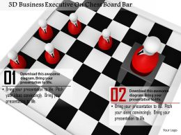 1014 3d Business Executive On Chess Board Bar Image Graphics For PowerPoint