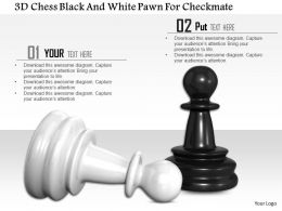 1014 3d Chess Black And White Pawn For Checkmate Image Graphics For Powerpoint