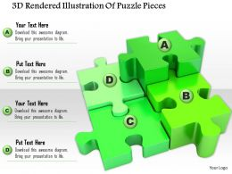 1014 3d Rendered Illustration Of Puzzle Pieces Image Graphics For PowerPoint