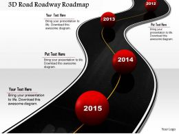 1014 3d Road Roadway Roadmap Image Graphics For PowerPoint