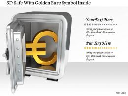 1014 3d Safe With Golden Euro Symbol Inside Image Graphics For Powerpoint
