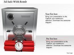1014 3d Steel Safe With Timer Bomb Image Graphics For Powerpoint