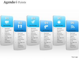 1014 Agenda Six Points Vertical Info Graphic Diagram Powerpoint Template