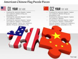 1014 American Chinese Flag Puzzle Pieces Image Graphics For PowerPoint