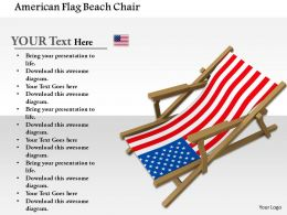 1014 American Flag Beach Chair Image Graphics For PowerPoint