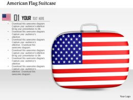 1014 American Flag Suitcase Image Graphics For PowerPoint