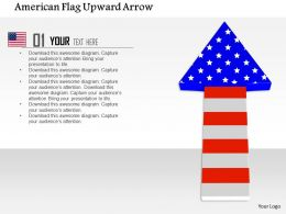 1014 American Flag Upward Arrow Image Graphics For PowerPoint