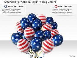 1014 American Patriotic Balloons In Flag Colors Image Graphics For Powerpoint