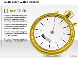 1014 Analog Stop Watch Business Image Graphics For PowerPoint