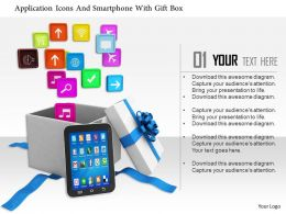 1014 Application Icons And Smartphone With Gift Box Image Graphics For Powerpoint