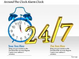 1014 Around The Clock Alarm Clock Image Graphics For PowerPoint