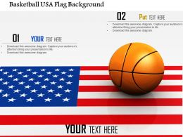 1014 Basketball USA Flag Background Image Graphics For PowerPoint