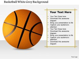 1014 Basketball White Grey Background Image Graphics For PowerPoint