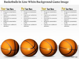 1014 Basketballs In Line White Background Game Image Graphics For PowerPoint