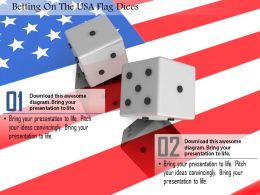1014 Betting On The USA Flag Dices Image Graphics For PowerPoint
