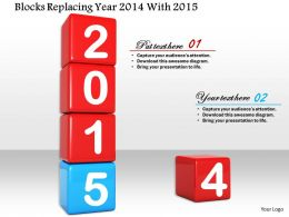 1014 Blocks Replacing Year 2014 With 2015 Image Graphics For Powerpoint