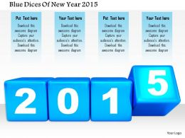 1014 Blue Dices Of New Year 2015 Image Graphics For Powerpoint