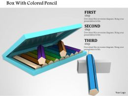 1014 Box With Colored Pencil Image Graphics For PowerPoint