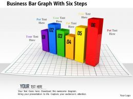 1014 Business Bar Graph With Six Steps Image Graphics For Powerpoint