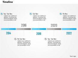 1014 Business Plan 2014 To 2022 Timeline Diagram Powerpoint Presentation Template