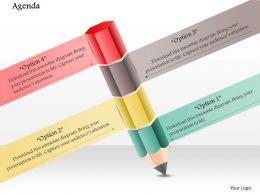 1014 Business Plan Four Options Pencil Education Powerpoint Presentation Template