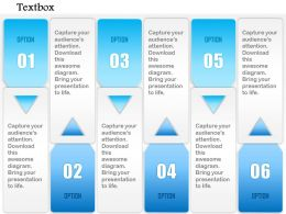 1014 Business Plan Six Options Vector Textboxes Powerpoint Presentation Template