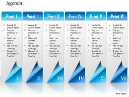 1014 Business Plan Six Points Workflow Agenda Powerpoint Presentation Template