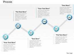 1014 Business Plan Six Steps Process Line Powerpoint Presentation Template