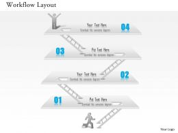 1014 Business Plan Workflow Layout Achievement Success Diagram Powerpoint Presentation Template