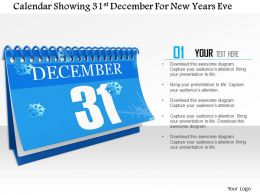 1014 Calendar Showing 31st December For New Years Eve Image Graphics For Powerpoint
