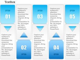1014 Five Options Arrow Insert Textbox Powerpoint Template