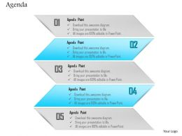 1014 Five Points Agenda Abstract Diagram Powerpoint Template