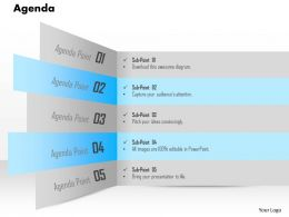 1014 Five Points Agenda Powerpoint Template