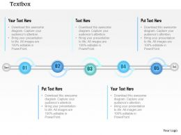 1014 Five Points Timeline Graphic Powerpoint Template
