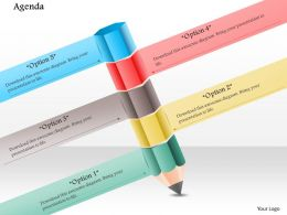 1014 Five Stages Pencil Education Powerpoint Template
