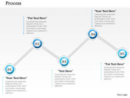 1014 Five Steps Process Powerpoint Template