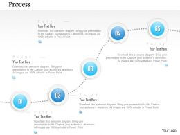 1014 Five Steps Process Spheres Line Diagram Powerpoint Template