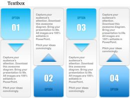 1014 Four Options Vertical Textboxes Powerpoint Template