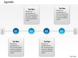 1014 Four Stages Agenda Timeline Powerpoint Template