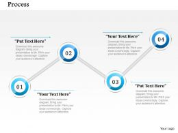 1014 Four Steps Process Diagram Powerpoint Template