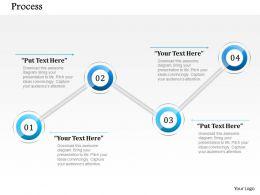 90090660 Style Circular Zig-Zag 4 Piece Powerpoint Presentation Diagram Infographic Slide