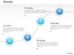 1014 Four Steps Process Spheres Dotted Line Diagram Powerpoint Template