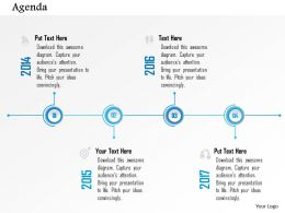 1014 Four Steps Timeline Agenda Diagram Powerpoint Template
