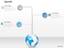 1014 Global Timeline Agenda Powerpoint Template