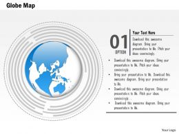 1014 Globe In Maze Outer Lining Powerpoint Template