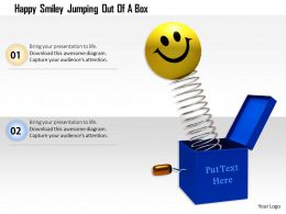 1014 Happy Smiley Jumping Out Of A Box Image Graphics For Powerpoint