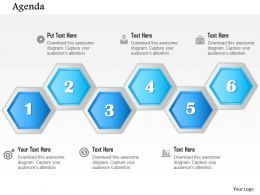1014 Hexagonal Six Steps Stages Agenda Diagram Powerpoint Template