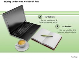 1014 Laptop Coffee Cup Notebook Pen Image Graphics For Powerpoint